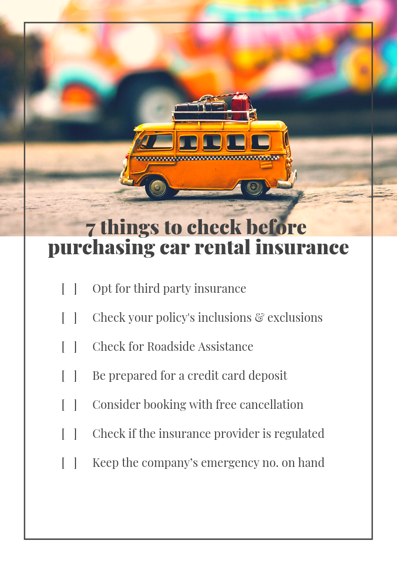 7 Things To Check Before Purchasing Car Rental Insurance Rentalcover Com